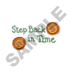 STEP BACK IN TIME embroidery design