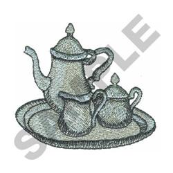 TEA SERVICE embroidery design