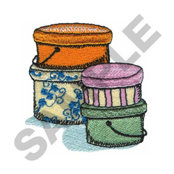 HAT BOXES embroidery design