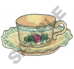 CUP AND SAUCER embroidery design