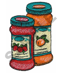 STRAWBERRY & PEACH PRESERVES embroidery design