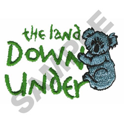 THE LAND DOWN UNDER KOALA embroidery design