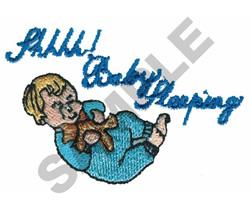 SHHHH! BABY SLEEPING embroidery design