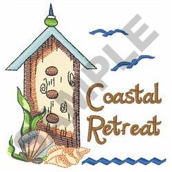 COASTAL RETREAT BIRDHOUSE embroidery design