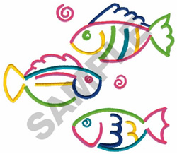 SCHOOL OF FISH embroidery design