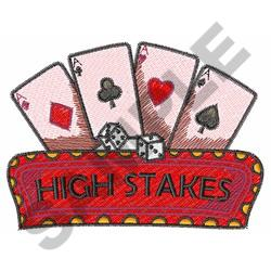 CARDS AND DICE embroidery design