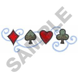 PLAYING CARD SUITS embroidery design