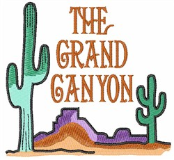 THE GRAND CANYON embroidery design