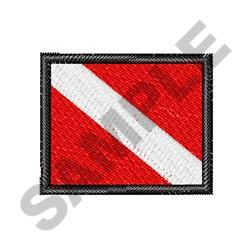 SMALL DIVE FLAG embroidery design