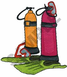 SCUBA GEAR embroidery design