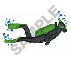 SCUBA DIVER embroidery design