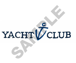 YACHT CLUB embroidery design