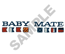 BABY MATE embroidery design