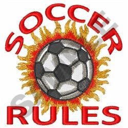 SOCCER RULES embroidery design