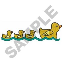 MOTHER AND BABY DUCKS embroidery design