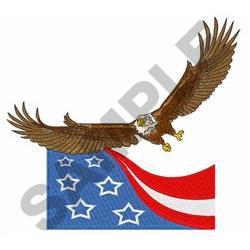 EAGLE AND FLAG embroidery design
