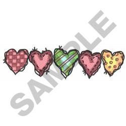 HOMESPUN HEARTS BORDER embroidery design