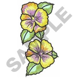PANSY FLOWER BORDER embroidery design