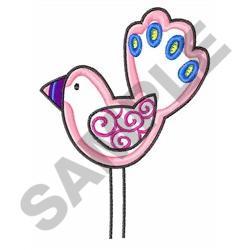 EXOTIC BIRD APPLIQUE embroidery design