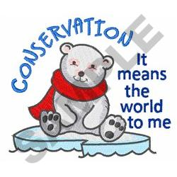 CONSERVATION embroidery design