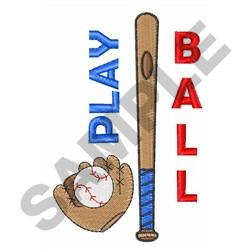 PLAY BALL embroidery design