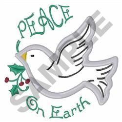 PEACE ON EARTH APPLIQUE embroidery design