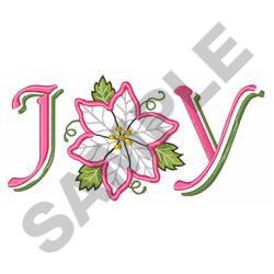JOY POINSETTIA APPLIQUE embroidery design