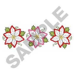 POINSETTIA BORDER APPLIQUE embroidery design