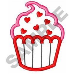 VALENTINE CUPCAKE APPLIQUE embroidery design