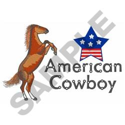 AMERICAN COWBOY embroidery design
