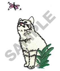 KITTY WITH BUTTERFLY embroidery design