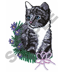 KITTY BOUQUET embroidery design