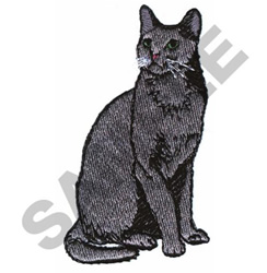 RUSSIAN BLUE embroidery design