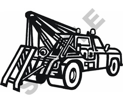 TOW TRUCK OUTLINE embroidery design