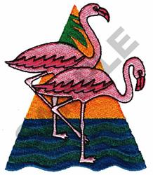 FLAMINGOS embroidery design