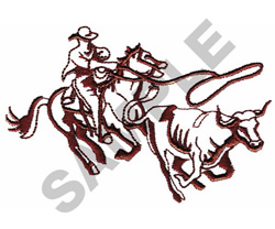 HORSE AND COW embroidery design