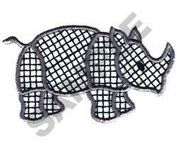 RHINO embroidery design