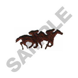 HORSE RACERS embroidery design