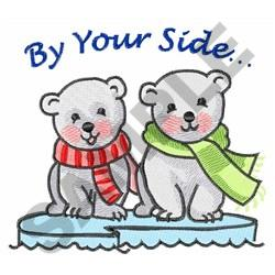 BY YOUR SIDE embroidery design
