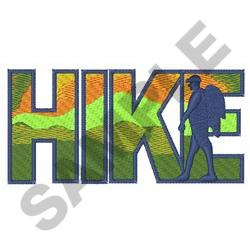 HIKE embroidery design