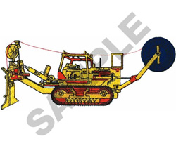 PLOW CAT embroidery design