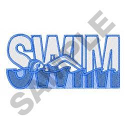 SWIM embroidery design
