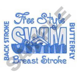SWIMMING STOKES embroidery design