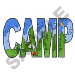 CAMP embroidery design