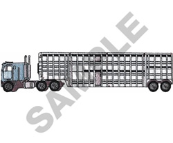CATTLE TRUCK embroidery design