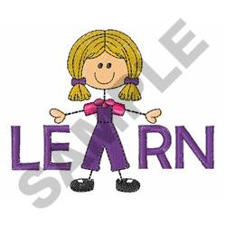 LEARN embroidery design