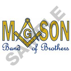 MASON BAND OF BROTHERS embroidery design