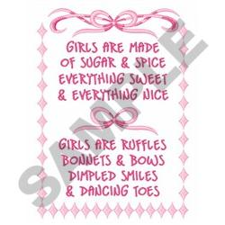 NEW BABY GIRL POEM embroidery design