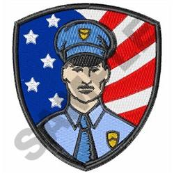 AMERICAN POLICE OFFICER embroidery design