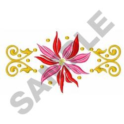 ORNATE POINSETTIA embroidery design